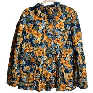 E•Land American Classic Floral Coat Size Small